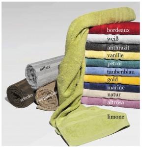 Handtuch Lünten mit Farben